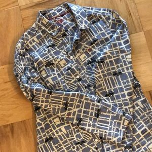 Boden Long Sleeve Button Down Map London Shirt